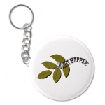 I Make It Happen Green Leaf Key Chain