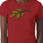 I Make It Happen Green Leaf Women's Short Sleeve Petite Tailored T-Shirt