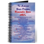 To Achieve Your Dreams Remember Your ABCs Blue Skies Journal