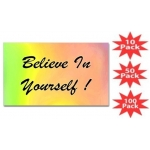 Believe In Yourself Rainbow Rectangular Sticker Multi-Packs