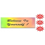 Believe In Yourself Rainbow Bumper Sticker Multi Packs