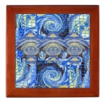 Van Gogh Series Visitors From A Starry Night Mahogany Keepsake Box