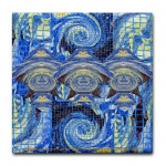 Van Gogh Series Visitors From A Starry Night Tile Coaster