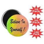 Believe In Yourself Rainbow Round Magnet Multi-Packs