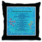 To Achieve Your Dreams Remember Your ABCs Ocean Bubbles Throw Pillow