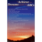 To Achieve Your Dreams Remember Your ABCs 4th Edition Poster With Shooting Star Background