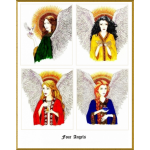 Four Angels Note Cards by Margaret Pauls | Inspirationmotivation.com